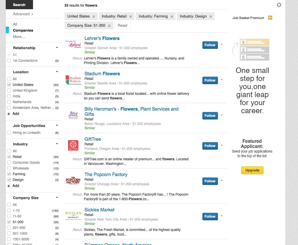 career coaching - LinkedIn search - George Karris