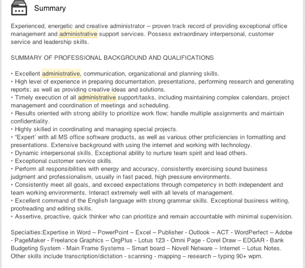 linkedin profile writing stuffed with too many adjectives