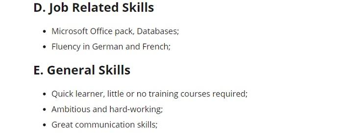3_Resume skills sample