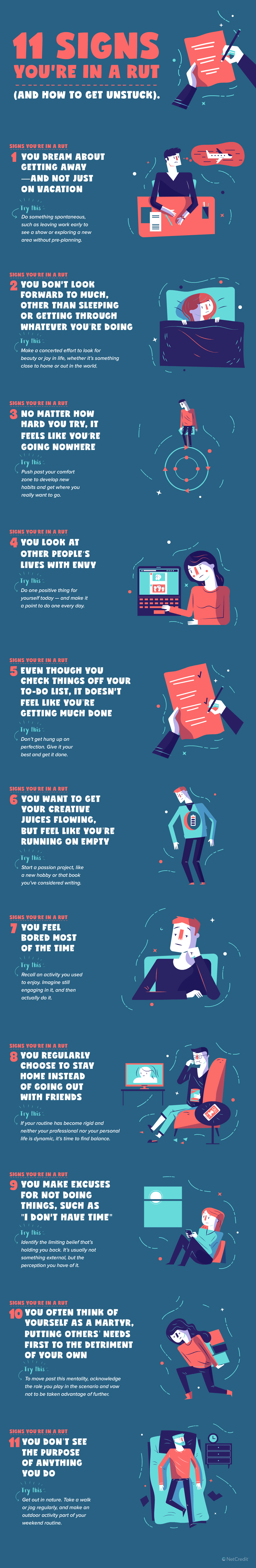 Infographic: 11 Signs Your Career's In A Rut